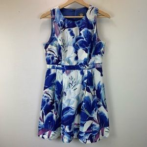 Vince Camuto Womens Watercolor Lily Dress